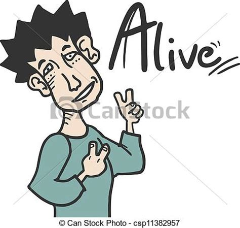 alive clip art clipart vector of alive man creative design of alive man