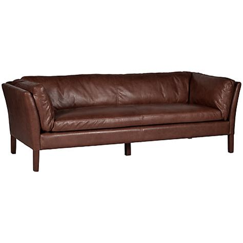 Halo Leather Sofa Buy Halo Groucho Large Leather Sofa Lewis