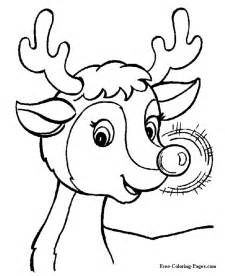 printable christmas coloring book pages rudolph glow