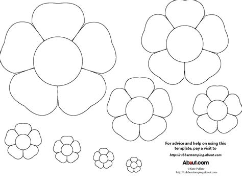 Flower Paper Craft Template - early play templates flower templates free