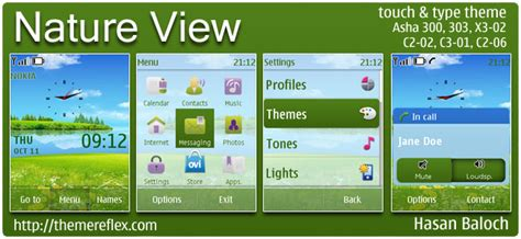 nokia c2 nature themes nature view theme for nokia asha 303 300 c2 02 x3 02
