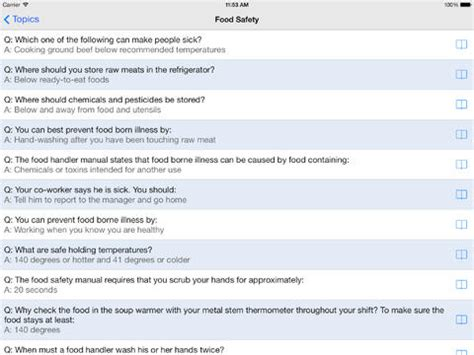 food handlers test on the app store