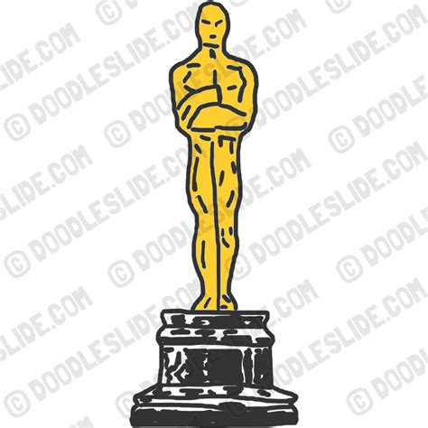 How To Make An Oscar Trophy Out Of Paper - oscar statue clipart clipart suggest