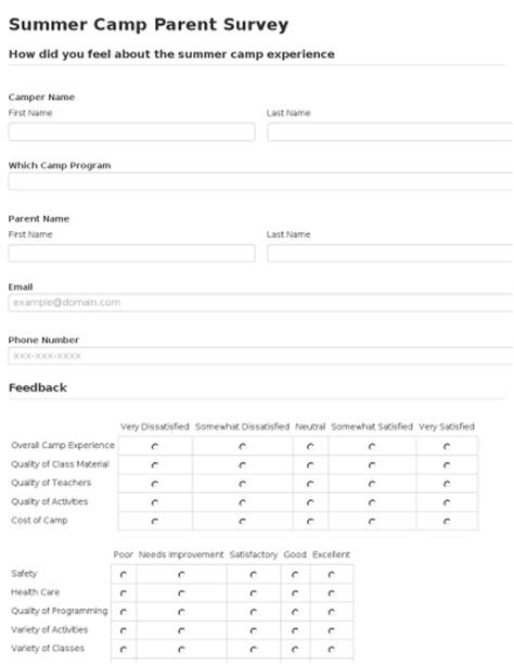 parent satisfaction survey template seamlessdocs