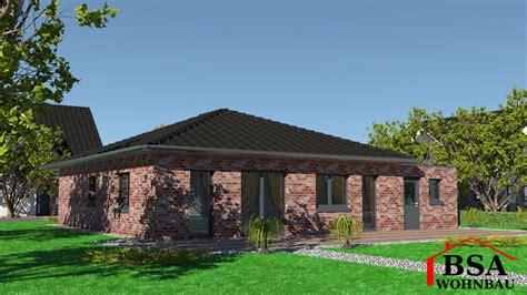 bsa wohnbau walmdachbungalow ambiente 96 schl 252 sselfertig bauen bsa