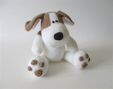 how to knit a puppy spot the puppy knitting patterns from fluffandfuzz on
