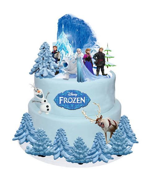 disney frozen elsa anna olaf stands  cake toppers wafer card edible  pieces  ebay