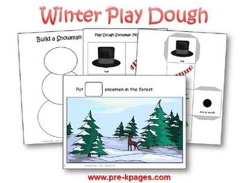 printable winter playdough mats preschool play dough and snowman on pinterest