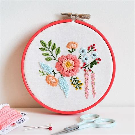 cute diy embroidery projects  weekends
