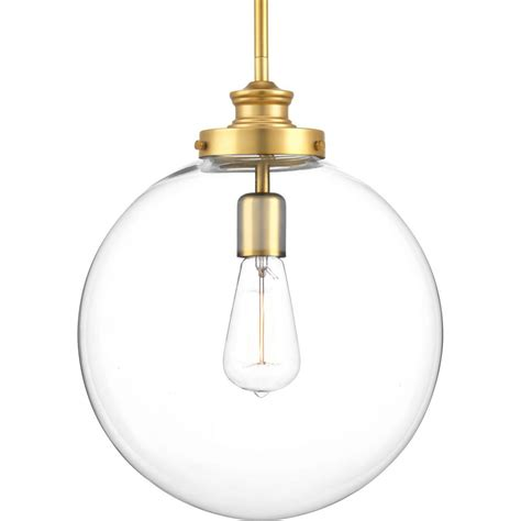 Progress Lighting Pendant Progress Lighting Penn 1 Light Brass Large Pendant P5328 137 The Home Depot