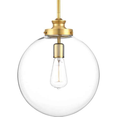 Progress Pendant Lights Progress Lighting Penn 1 Light Brass Large Pendant P5328 137 The Home Depot