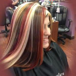 hair color pics highlights multi multi color highlights for hair dark brown hairs