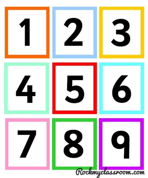 printable digit cards free download numicon colour coded number cards early
