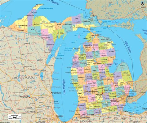 state of michigan map map of state of michigan visit all 50 states checklist