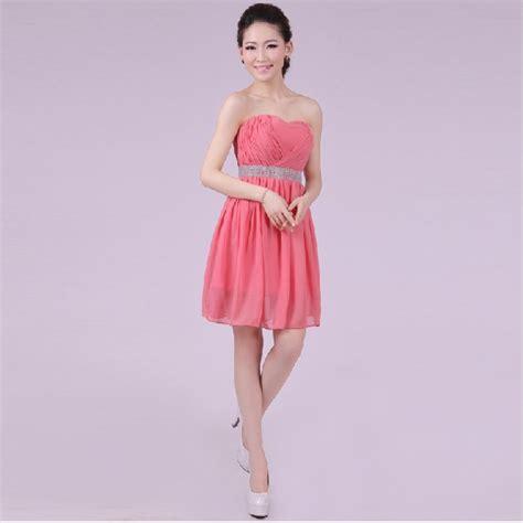 vestidos dama de honor cortos vestidos cortos color coral imagui
