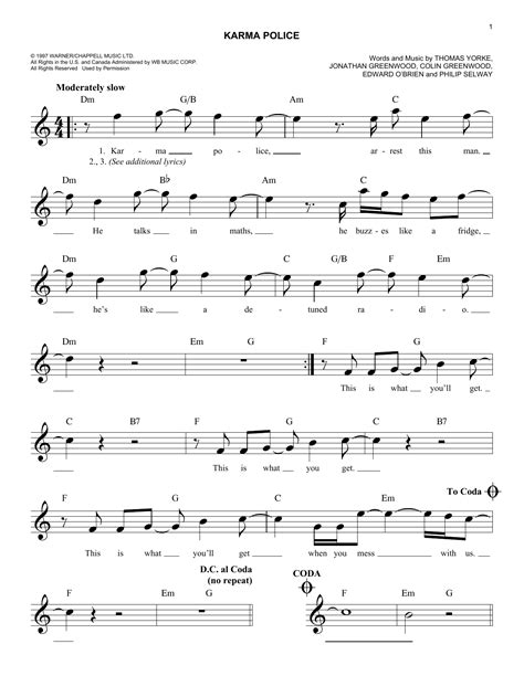 Karma Police | Sheet Music Direct