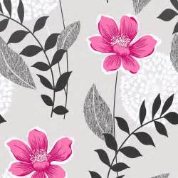 Home Designing Com classy pink and grey floral wallpaper spectacular home