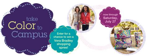 Vera Bradley Gift Cards - vera bradley quot take color to cus quot sweepstakes win a 150 vera bradley gift card