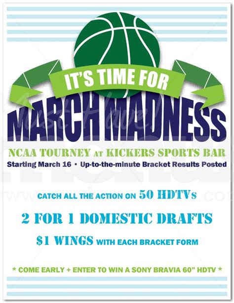 customizable design templates for march madness video postermywall
