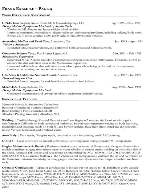 resume examples federal government writing a government resume