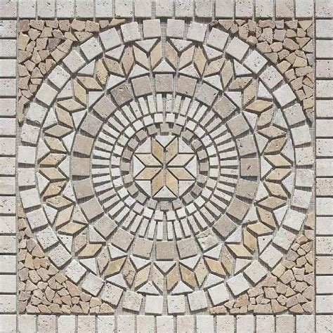 shop marmaris 502 multi color mosaic floor tile common