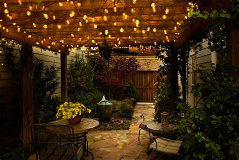 Led Outdoor Patio String Lights Outdoor Cafe Lighting Strings House Style Pictures