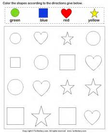 collection of pre k color worksheets sharebrowse