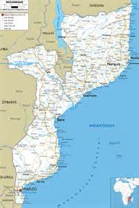 Map Of Detailed Clear Large Road Map Of Mozambique Ezilon Maps
