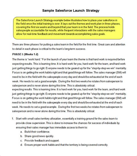 sales strategy templates sales strategy template 10 free word pdf documents