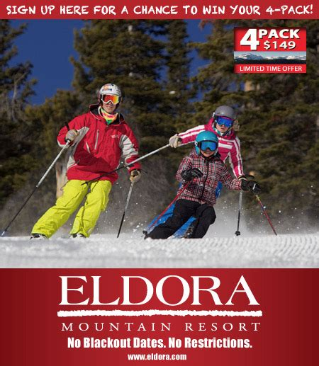 Lift Ticket Giveaway - eldora mountain resort 4 pack lift ticket giveaway
