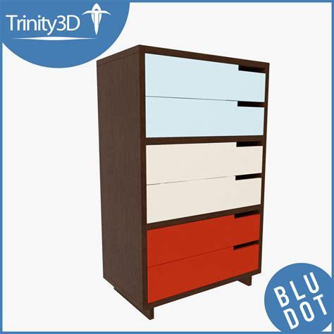 blu dot modulicious dresser 3d dresser set model