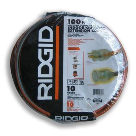 ridgid 100 ft 10 3 extension cord aw62628 the home depot