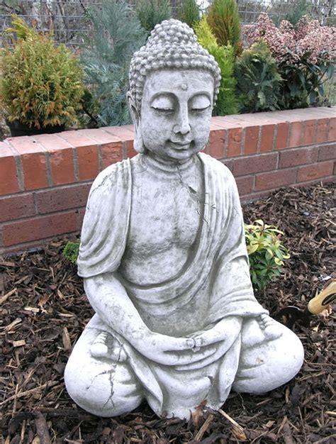 extra large stone buddha garden ornament bd