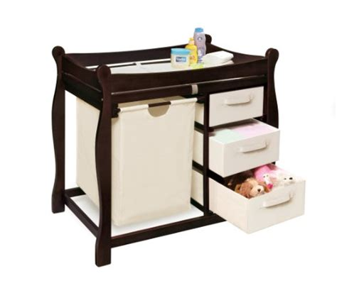 Badger Basket Sleigh Style Changing Table With Her 3 Badger Changing Table Espresso