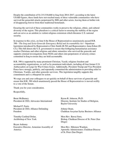 Support Letter For Ngo h r 390 ngo letter 2 religious freedom coalition