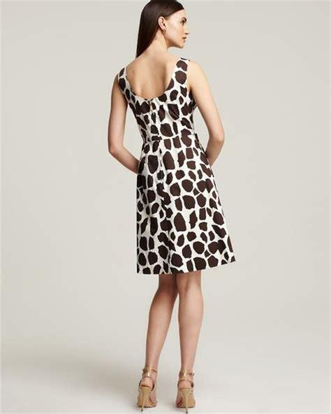 Dress Giraffe kate spade jillian giraffe print dress in black coconut lyst