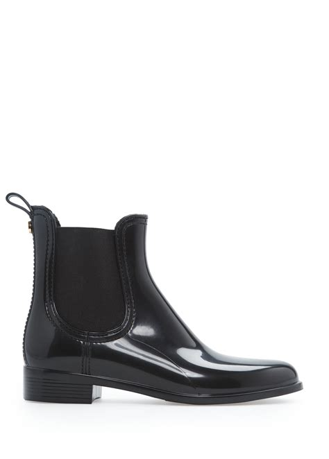 Wnew Glossy Chelsea lyst mango glossy finish chelsea boots in black