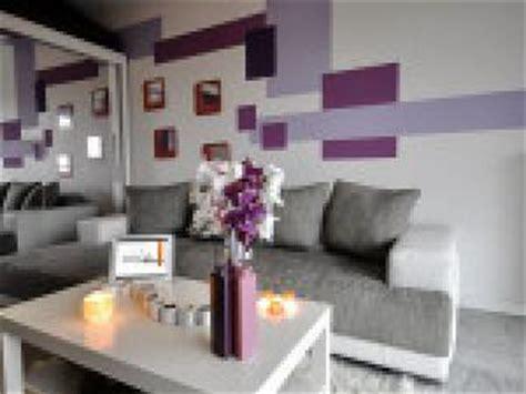 Dã Coration Salon Mauve Et Gris Photo Deco Salon Gris Violet Par Deco