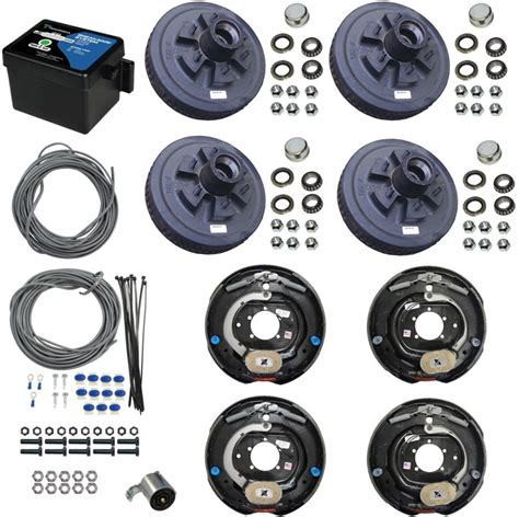 boat trailer axles with electric brakes tandem axle electric brake kit 12 quot 6 bolt drum brakes