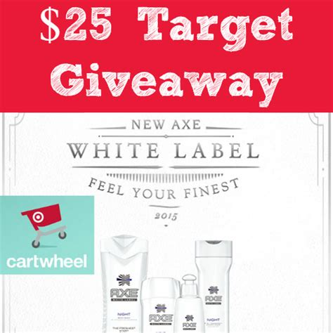 White Label Gift Cards - 25 target gift card giveaway winner axe 174 white label