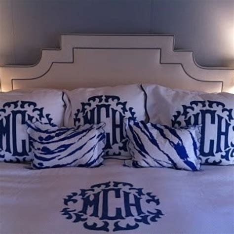 Monogrammed Bed Set For The Home Pinterest