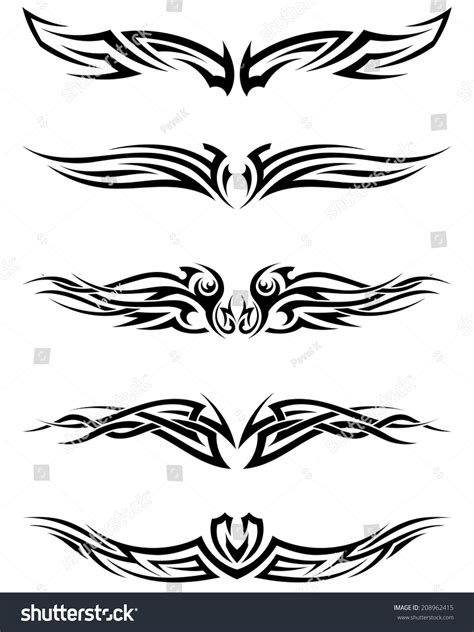 tribal tattoo vector set tribal tattoos eps 10 vector stock vector 208962415