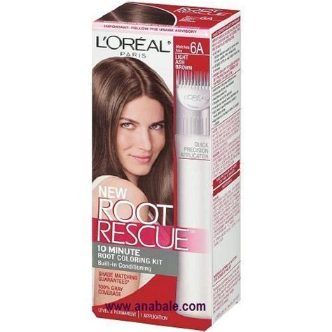 l oreal root rescue permanent hair color level 3 brown shade 4 1 application rite aid l oreal root rescue permanent hair color level 3 light ash brown shade 6a hair color