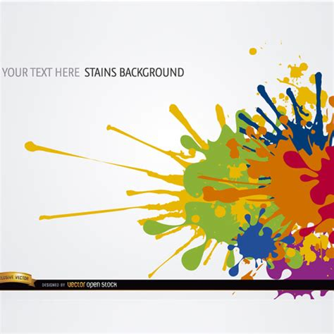 colorful paint splatter background ideas color paint splash background u2014 stock vector