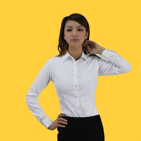 Kemeja Putih Untuk Perempuan wanita fashion kemeja putih kemeja polos kemeja formal