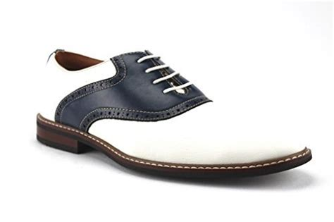 s saddle oxford dress shoes ferro aldo s 19268a two tone saddle oxfords lace up
