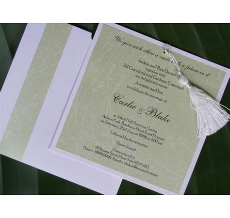 Handmade Wedding Invitations Sydney - beautiful made wedding invitations and wedding