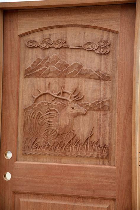 Carved Exterior Doors Carved Mahogany Doors Elk