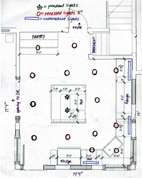 Recessed Lighting Layout Kitchen | recessed lighting layout diagram lighting info