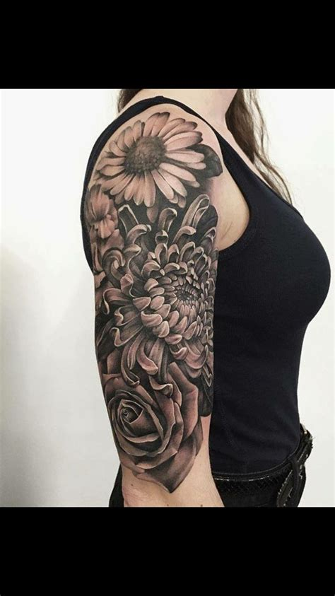 grey ink swirl and rose flower half sleeve tattoo 388 best images about asian black and grey tattoos on